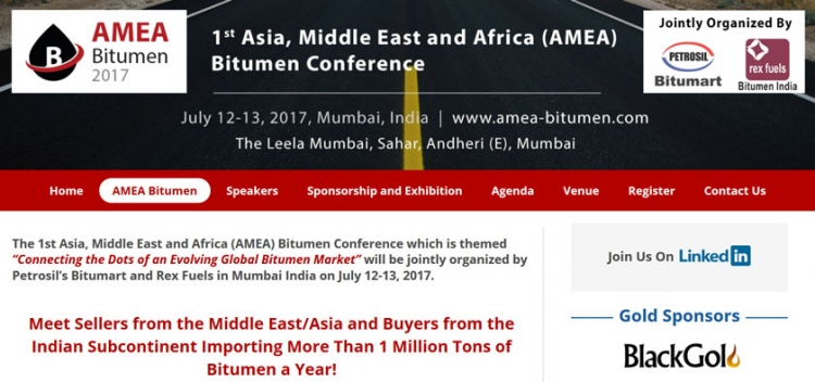AMEA Bitumen Welcomes Black Gold as Gold Sponsor for the Conference
