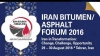 Iran Bitumen/Asphalt Forum 2016 (IrB 2016) will be held in Tehran on 29 – 30 August 2016.